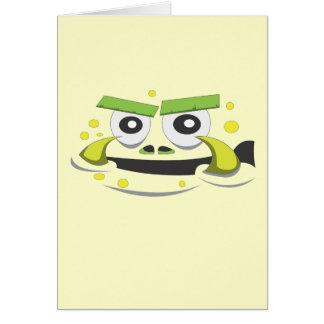 Cara do monstro cartão comemorativo