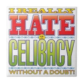 Cara do ódio do celibato azulejo de cerâmica