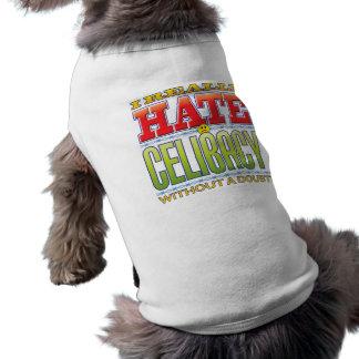 Cara do ódio do celibato camisetas para cães