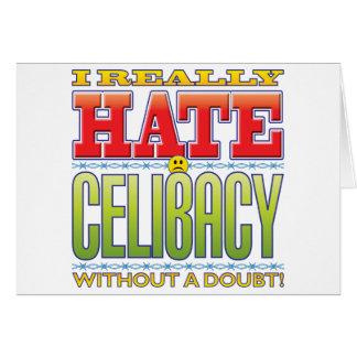 Cara do ódio do celibato cartao