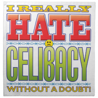 Cara do ódio do celibato guardanapo impresso