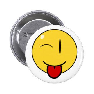 Cara engraçada, botão bóton redondo 5.08cm