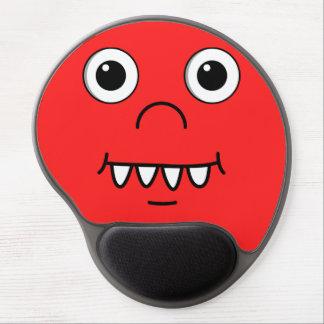 Cara engraçada dos desenhos animados mouse pad em gel