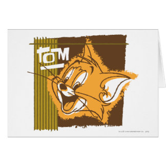 Cara feliz de Tom Cartão Comemorativo