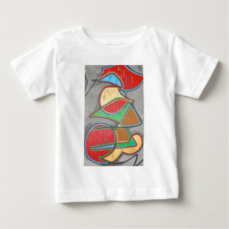 Cara geométrica - arte abstracta pintado à mão tshirts