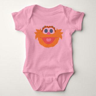 Cara grande de Zoe do bebê T-shirt