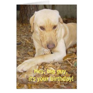 Cara grande do feliz aniversario cartão comemorativo