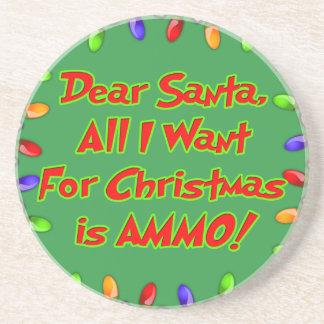 cara letra do desejo do Natal da munição do papai Porta Copo