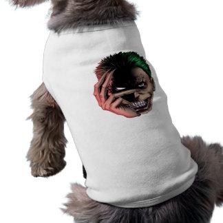 Cara má do monstro camisa sem mangas para cachorro