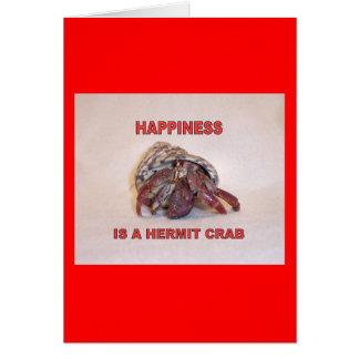 Caranguejo de eremita #14 cartão comemorativo