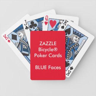 CARAS feitas sob encomenda do AZUL dos cartões de Baralhos De Pôquer