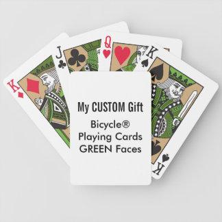 CARAS VERDES impressas costume dos cartões de jogo Baralhos De Carta