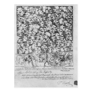 Caráteres e caricaturas cartão postal