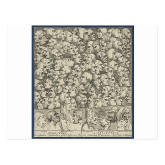 Caráteres e Caricaturas por William Hogarth Cartão Postal