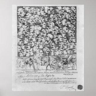 Caráteres e caricaturas poster