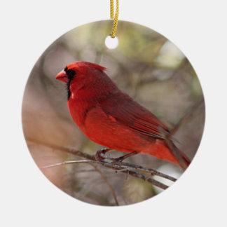 Cardeal do norte ornamento de cerâmica
