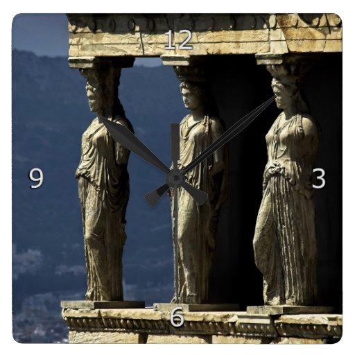 Cariátides, Acroplis, Atenas Relógios Para Pendurar