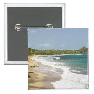 Caribe, GRENADA, costa leste, baía de Grenada, Bóton Quadrado 5.08cm
