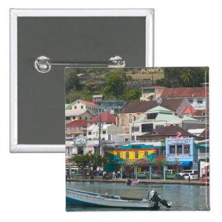 Caribe, GRENADA, St George, St George Bóton Quadrado 5.08cm