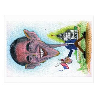 Caricatura-Cartão Obama Cartão Postal