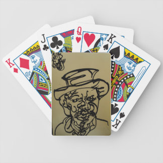 Caricatura, cartões de jogo originais do póquer do baralhos de pôquer