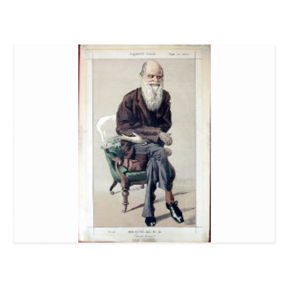 Caricatura de Charles Darwin de Vanity Fair Cartão Postal