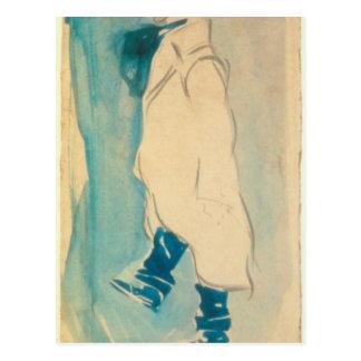 Caricatura de Everett Shinn por George Luks Cartão Postal