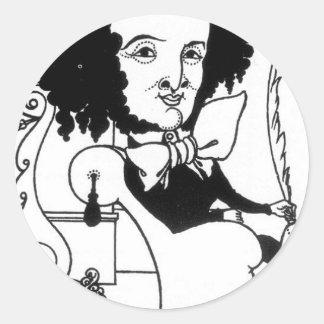 Caricatura de Felix Mendelssohn por Aubrey Adesivo