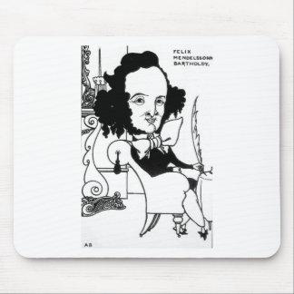 Caricatura de Felix Mendelssohn por Aubrey Mouse Pad