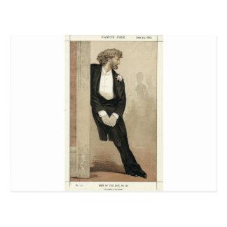 Caricatura de Frederic Leighton por James Tissot Cartão Postal