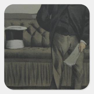 Caricatura de George Cavendish Bentinck por James Adesivo Quadrado