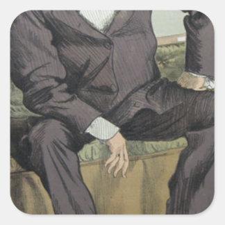 Caricatura de George William Pierrepont Bentinck Adesivo Quadrado