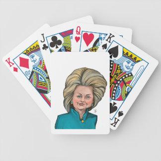 Caricatura de Hillary Clinton Baralho De Truco