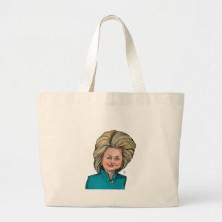 Caricatura de Hillary Clinton Bolsa Tote Grande