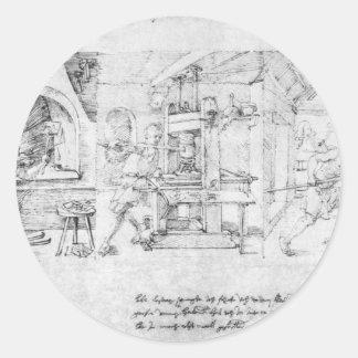 Caricatura de Lazarus Spengler por Albrecht Durer Adesivo