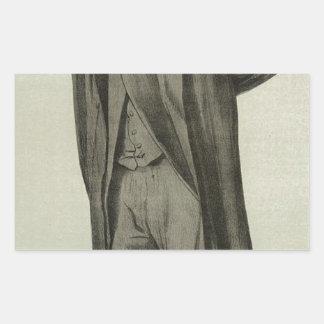 Caricatura de Matthew Arnold por James Tissot Adesivo Retangular