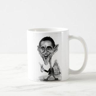 Caricatura de Obama Caneca De Café