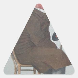 Caricatura de Percy William Doyle C.B. por James Adesivo Triangular