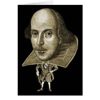 Caricatura de Shakespeare Cartão