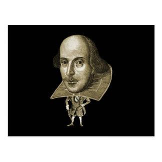 Caricatura de Shakespeare Cartão Postal