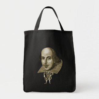 Caricatura de Shakespeare Bolsa Para Compra