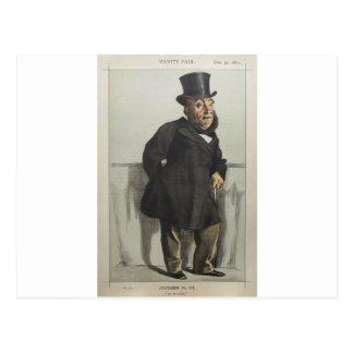 Caricatura de William Henry Gregory por James Cartão Postal