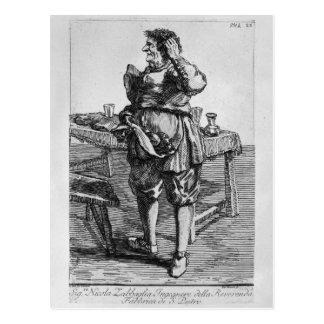 Caricatura de Zabaglia de Nicholas, o reverendo Cartão Postal