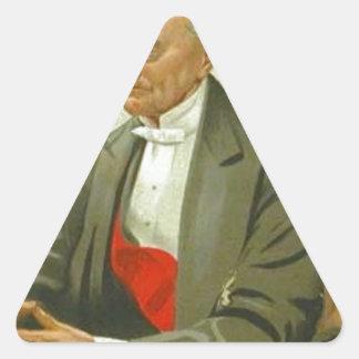 Caricatura do almirante senhor Hastings Reginald Adesivo Triangular