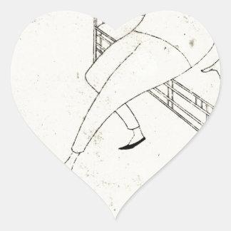 Caricatura do assobiador de James McNeill por Adesivo Coração
