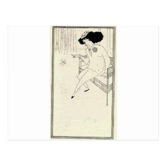 Caricatura do assobiador de James McNeill por Cartão Postal