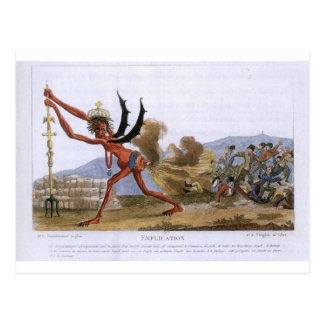 Caricatura do governo inglês Jacques-Louis Cartão Postal
