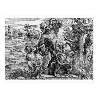 Caricatura do Laoc no grupo por Titian Cartão Postal