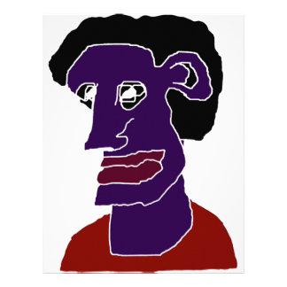 Caricatura do retrato do homem papel timbrado