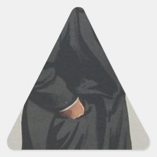 Caricatura do Sr. Lionel Lawson por James Tissot Adesivo Triangular
